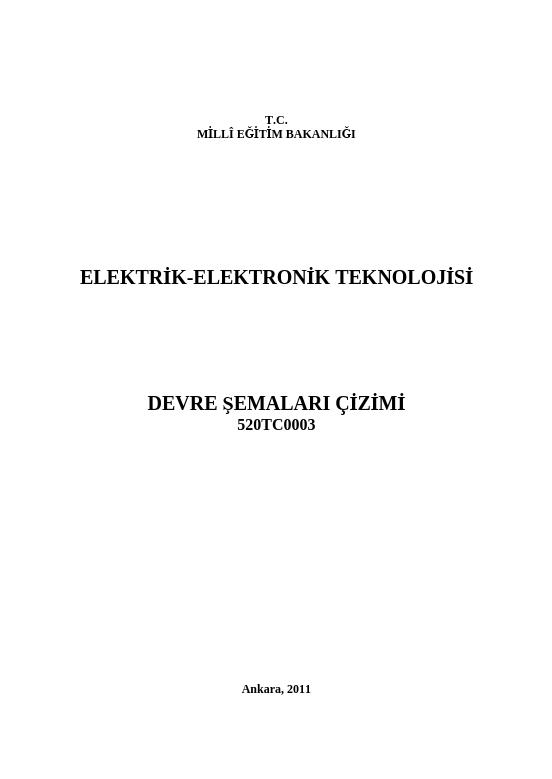 Devre Şemaları Çizimi ders notu pdf