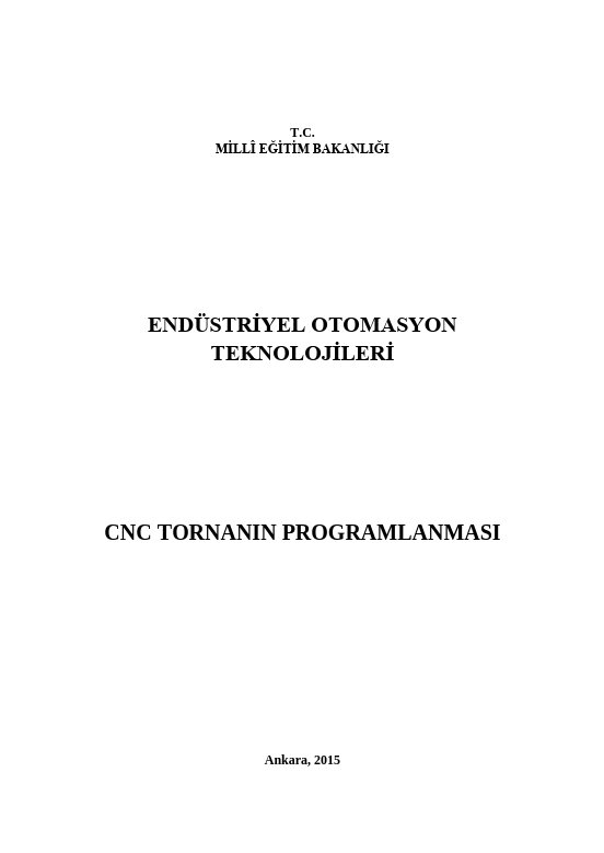 Cnc Tornanın Programlanması ders notu pdf