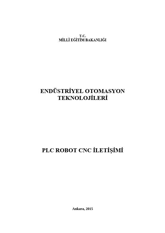 Plc Robot Cnc İletişimi ders notu pdf