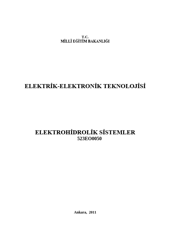 Elektrohidrolik Sistemler