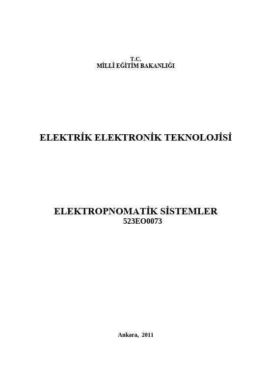Elektropnömatik Sistemler ders notu pdf