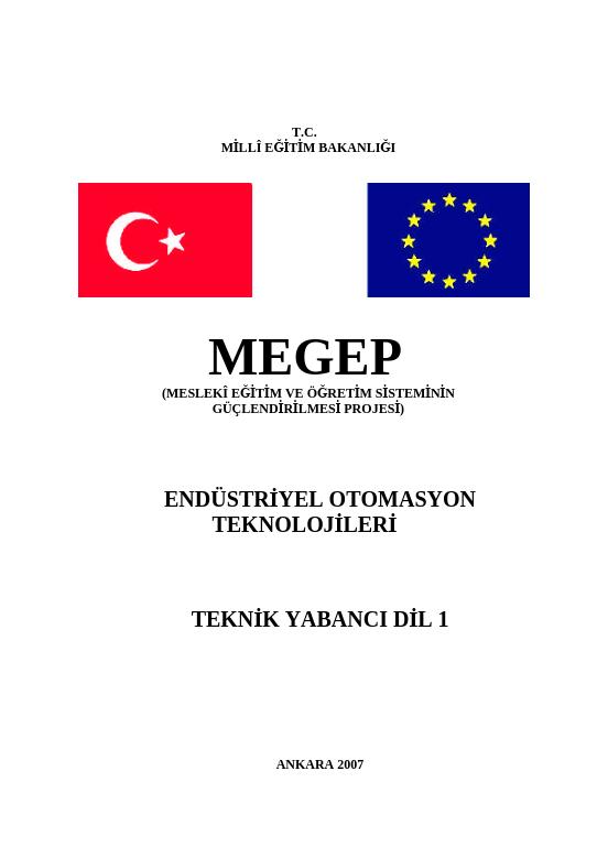 Teknik Yabancı Dil (İngilizce) 1 (endüstriye Otomasyon)