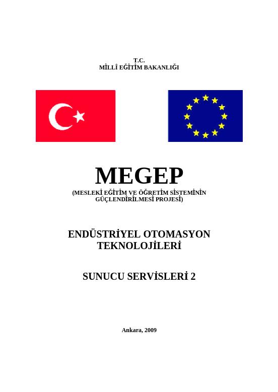 Sunucu Servisleri 2 ders notu pdf