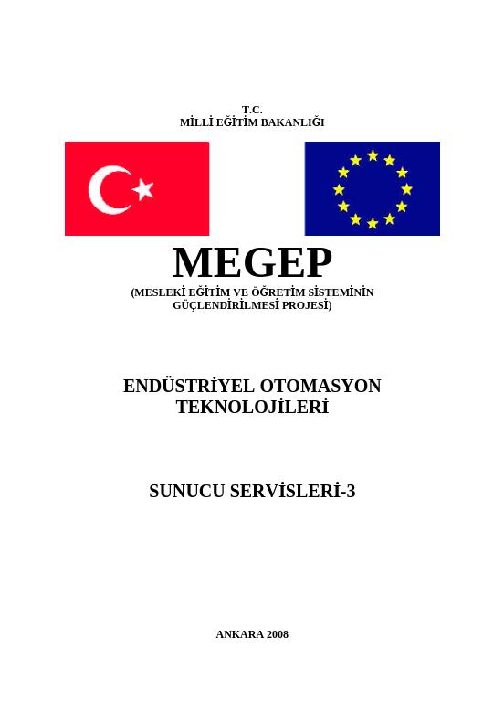 Sunucu Servisleri 3 ders notu pdf