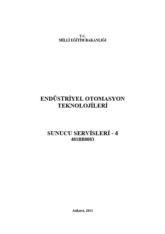 Sunucu Servisleri 4 ders notu pdf