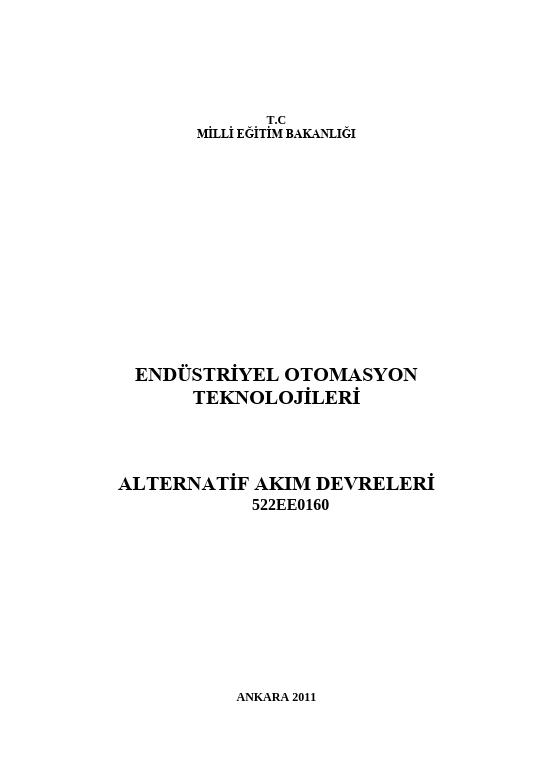 Alternatif Akım Devreleri ders notu pdf