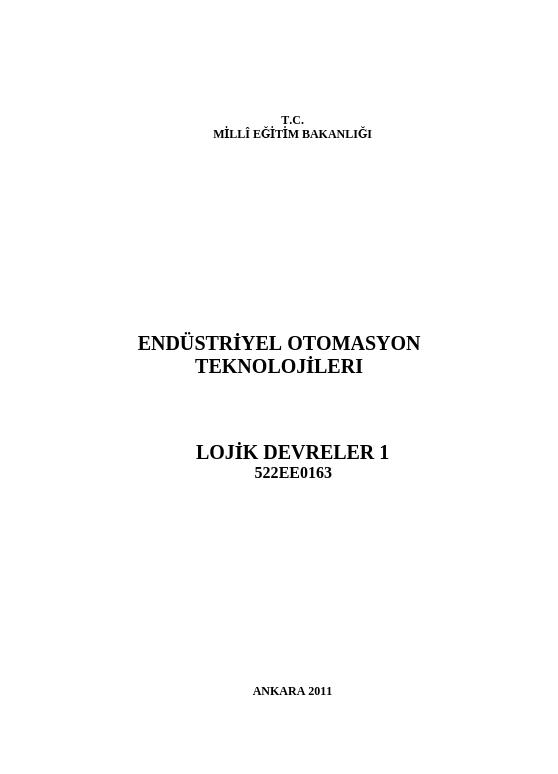 Lojik Devreler 1 ders notu pdf