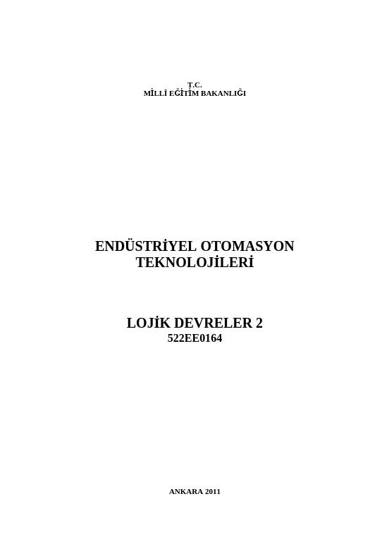 Lojik Devreler 2 ders notu pdf