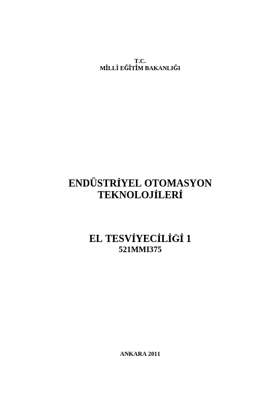 El Tesviyeciliği 1 ders notu pdf