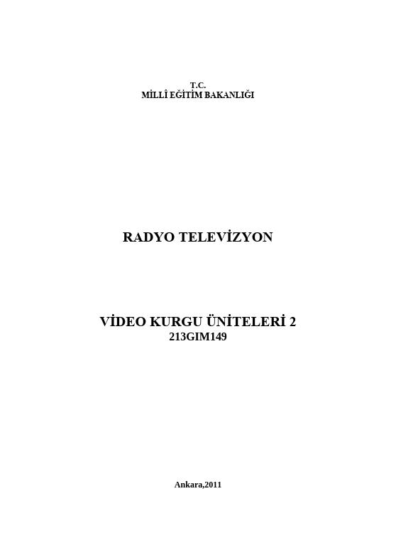Video Kurgu Üniteleri 2