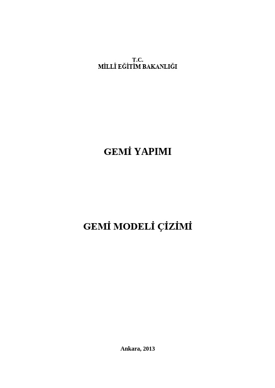Gemi Modeli Çizimi ders notu pdf