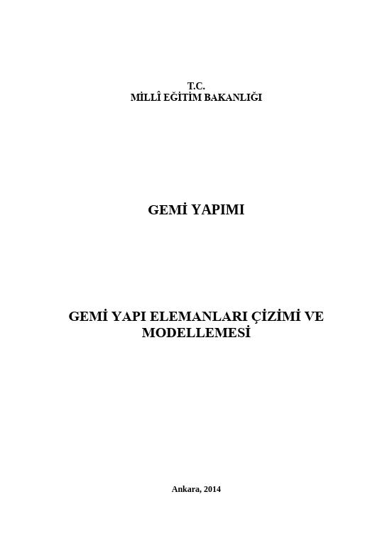 Gemi Yapı Elemanları Çizimi Ve Modellemesi ders notu pdf