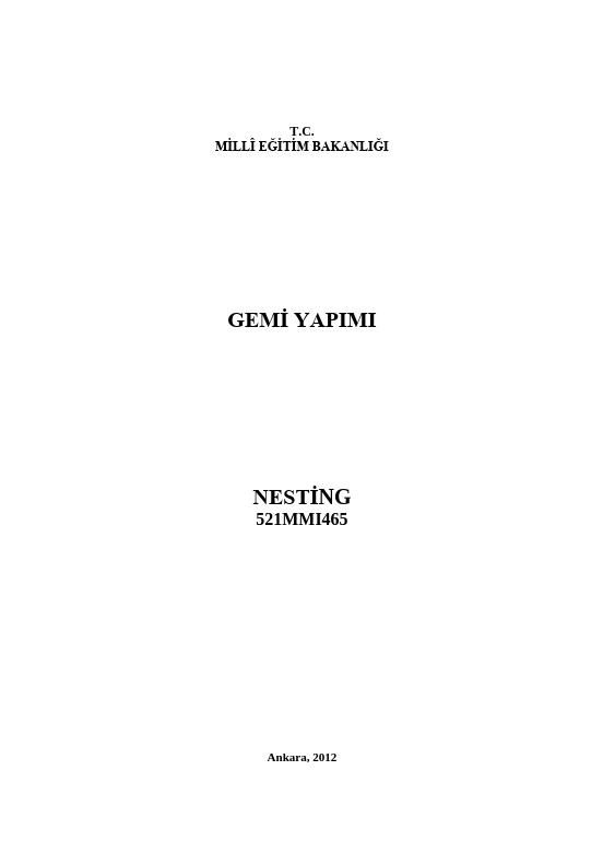 Nesting ders notu pdf