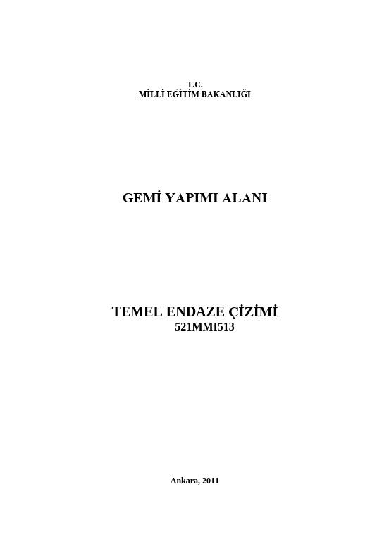 Temel Endaze Çizimi ders notu pdf