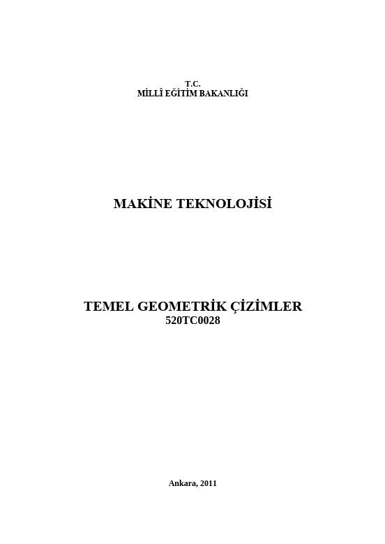 Temel Geometrik Çizimler ders notu pdf