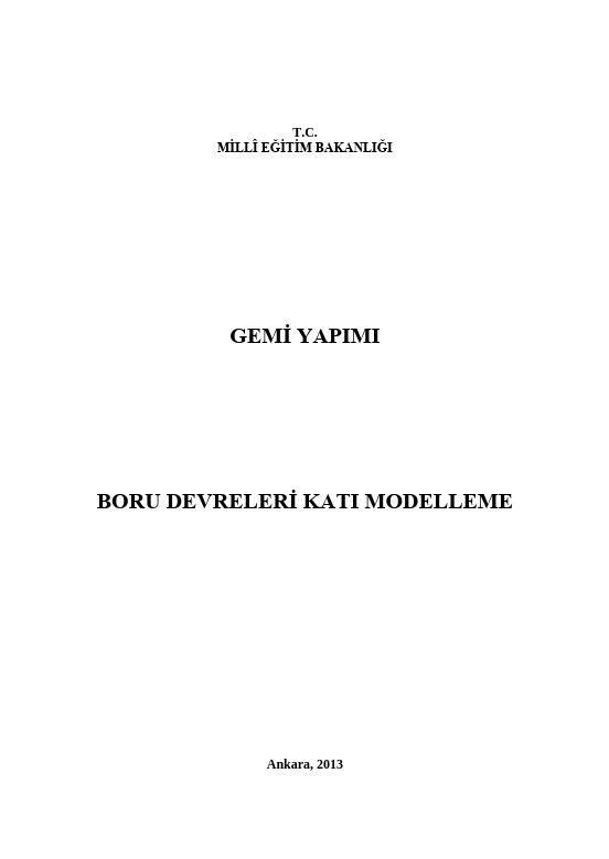Boru Devreleri Katı Modelleme ders notu pdf
