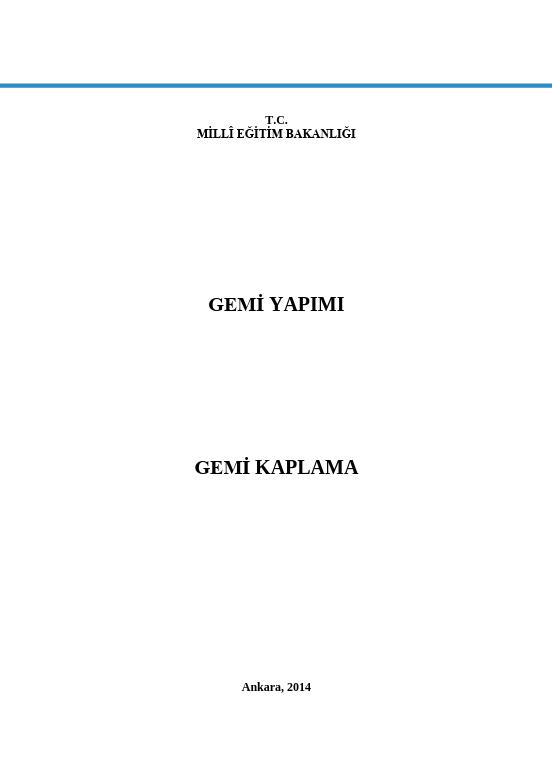 Gemi Kaplama ders notu pdf