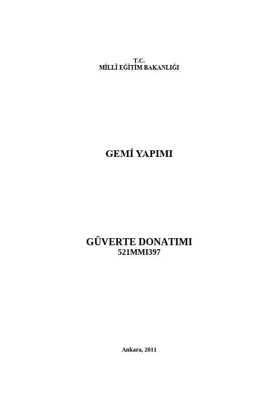 Güverte Donatımı ders notu pdf
