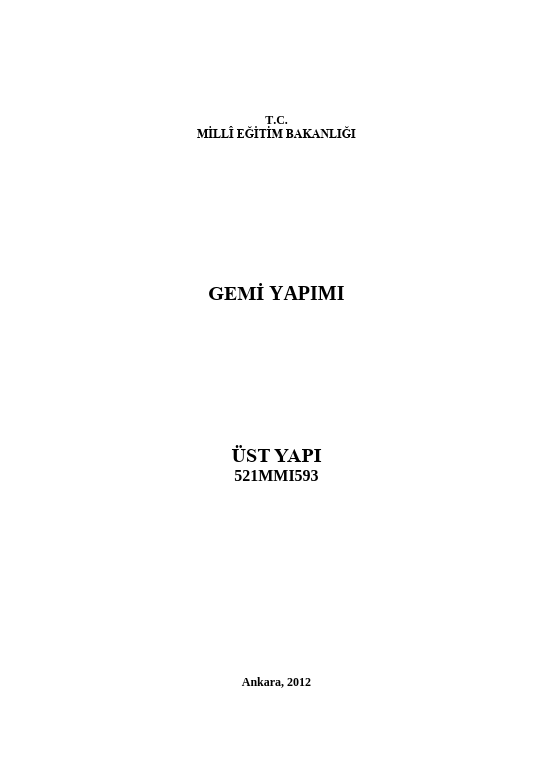 Üst Yapı ders notu pdf