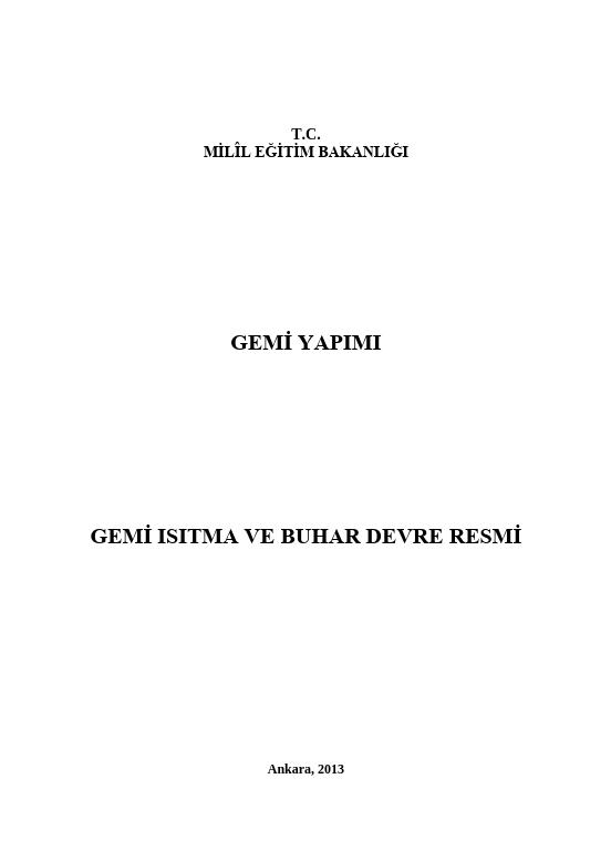 Gemi Isıtma Ve Buhar Devre Resmi ders notu pdf