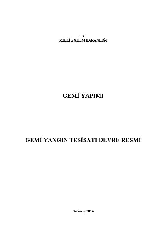 Gemi Yangın Tesisatı Devre Resmi ders notu pdf