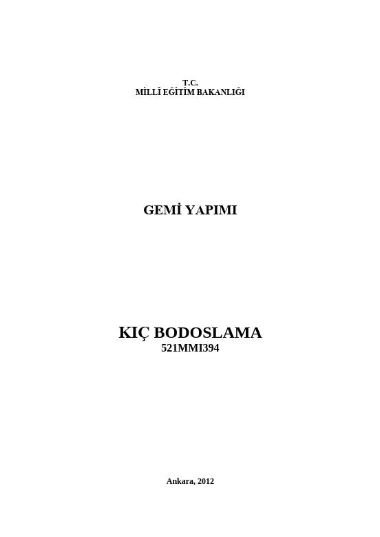 Kıç Bodoslama ders notu pdf