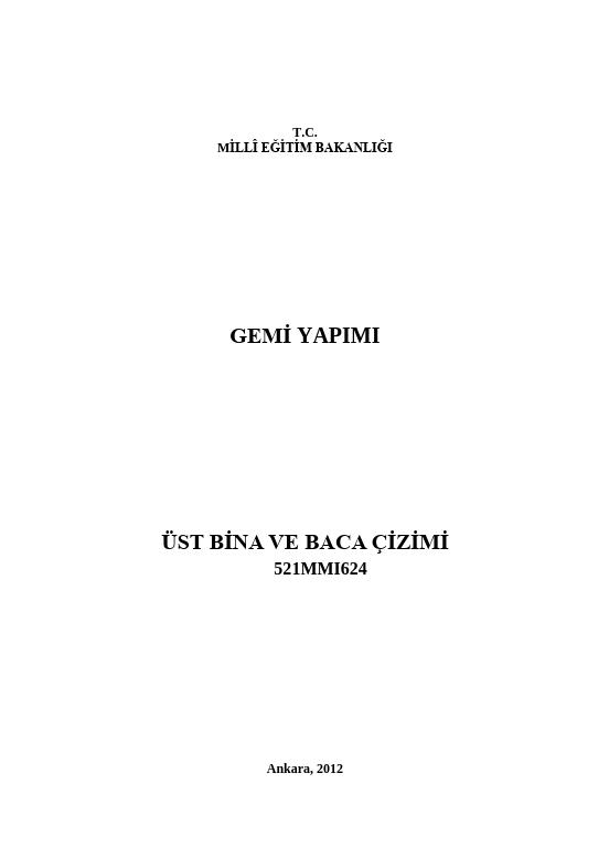 Üst Bina Ve Baca Çizimi ders notu pdf
