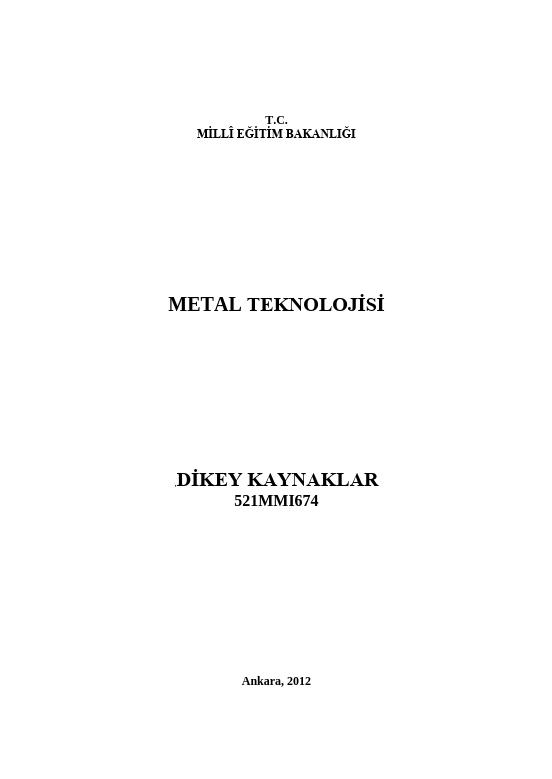 Dikey Kaynaklar ders notu pdf