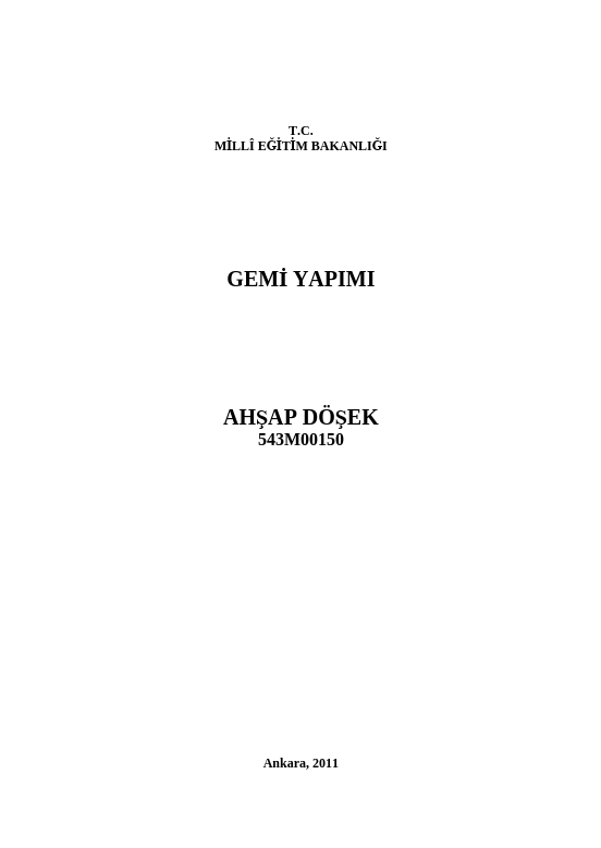 Ahşap Döşek ders notu pdf