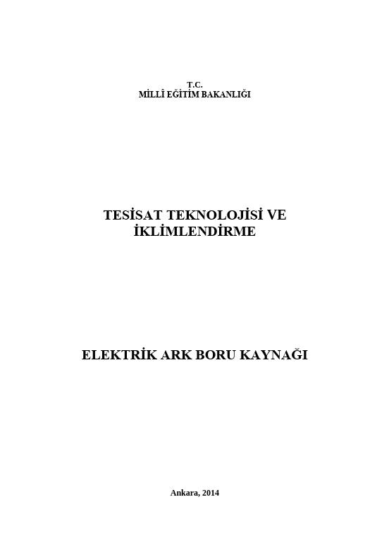 Elektrik Ark Boru Kaynağı
