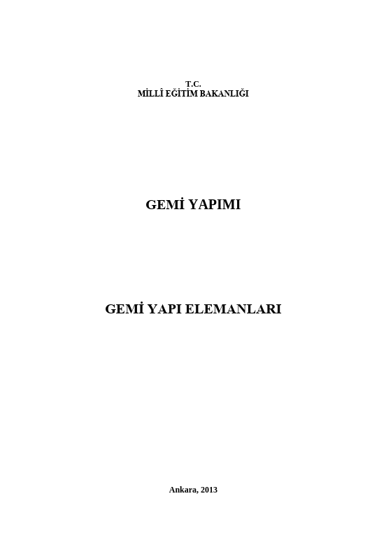Gemi Yapı Elemanları ders notu pdf