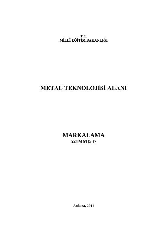 Markalama ders notu pdf
