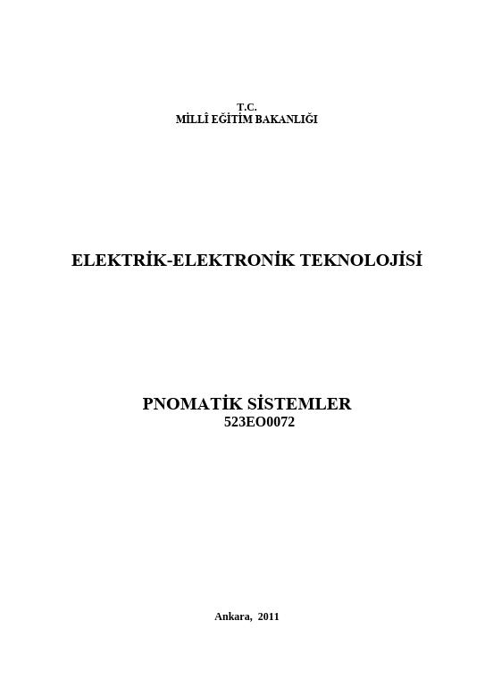 Pnömatik Sistemler ders notu pdf