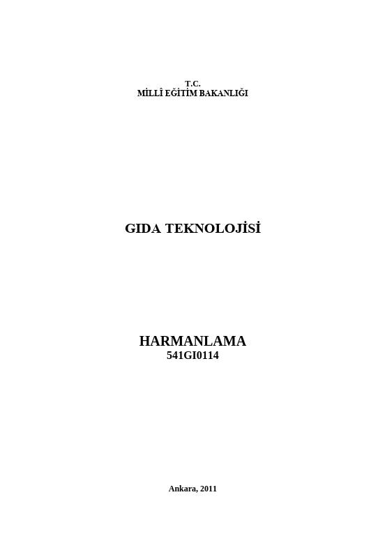 Harmanlama