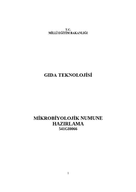 Mikrobiyolojik Numune Hazırlama ders notu pdf