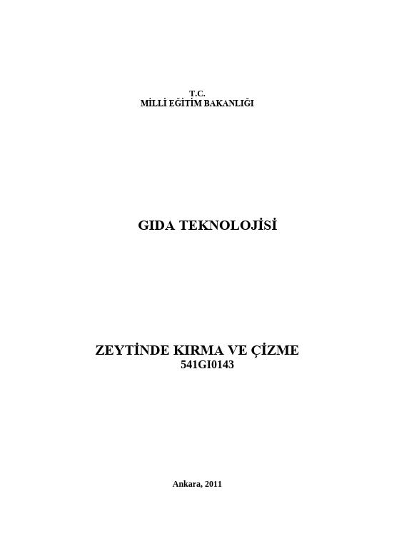 Zeytinde Kırma Ve Çizme ders notu pdf