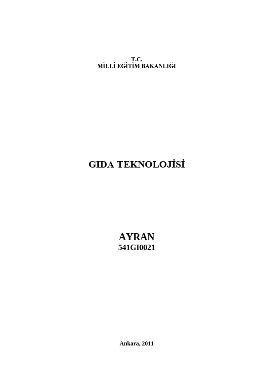 Ayran ders notu pdf