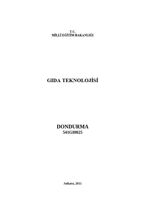 Dondurma ders notu pdf