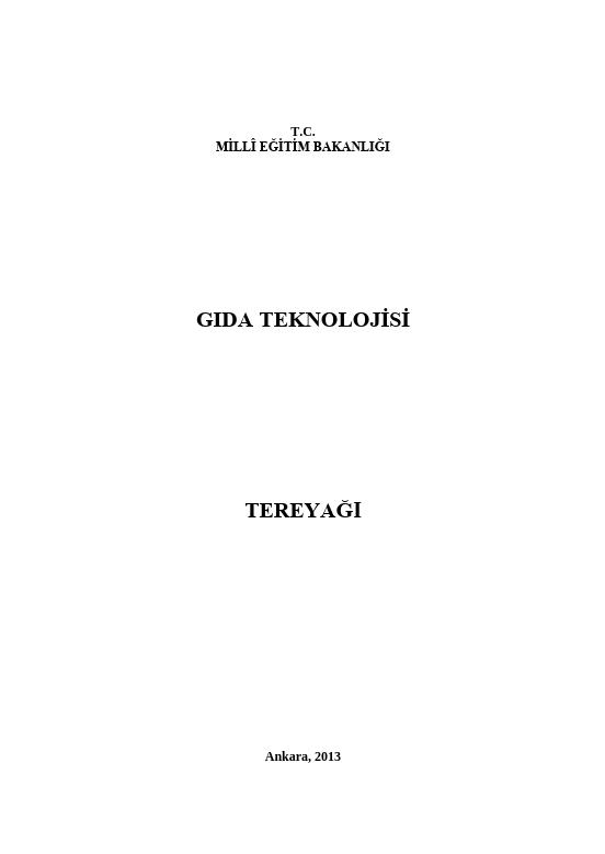 Tereyağı ders notu pdf
