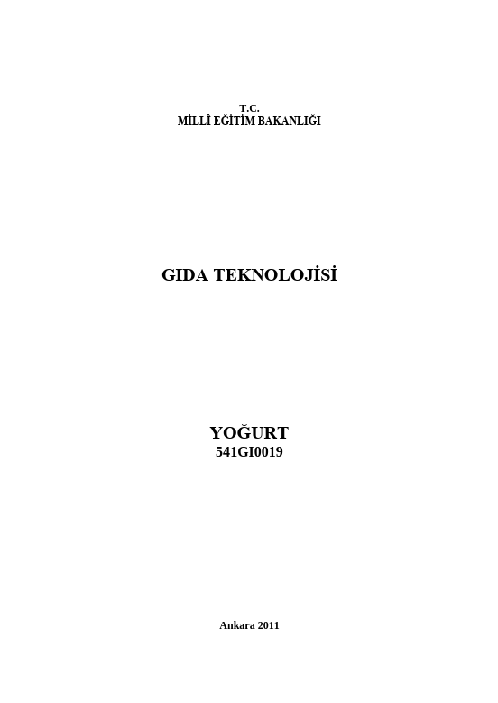 Yoğurt ders notu pdf