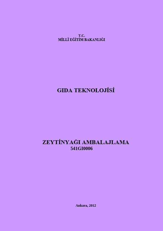 Zeytinyağı Ambalajlama ders notu pdf