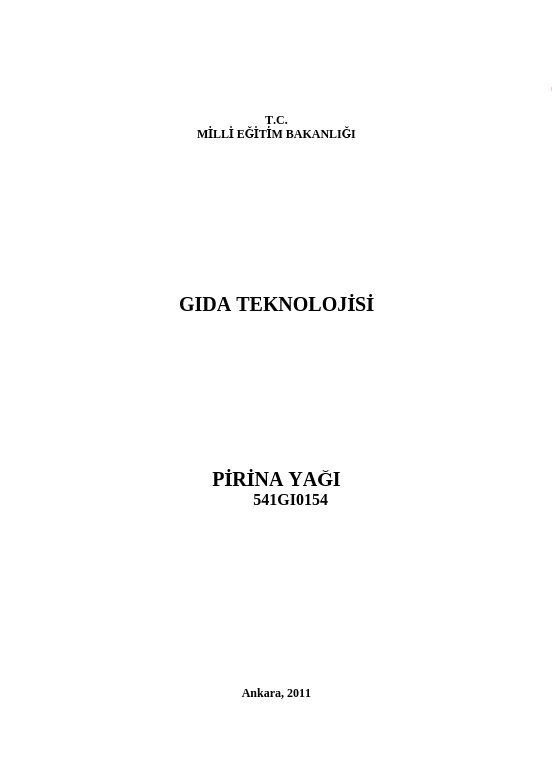 Prina Yağı ders notu pdf