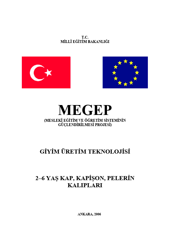 2-6 Yaş Kap, Kapüşon, Pelerin Kalıpları ders notu pdf