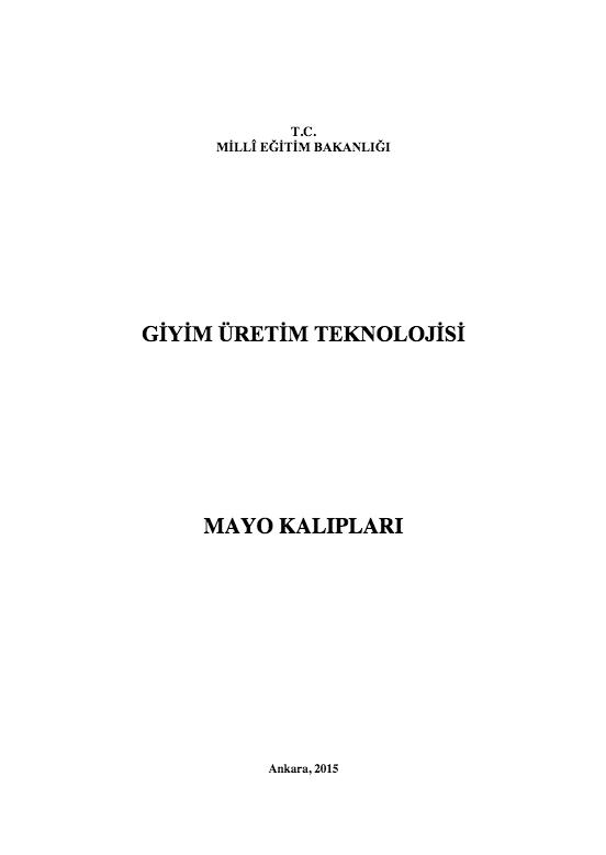 Mayo Kalıpları ders notu pdf