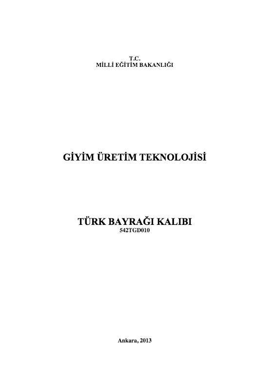 Türk Bayrağı Kalıbı ders notu pdf