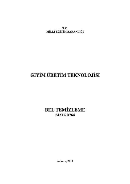 Bel Temizleme ders notu pdf