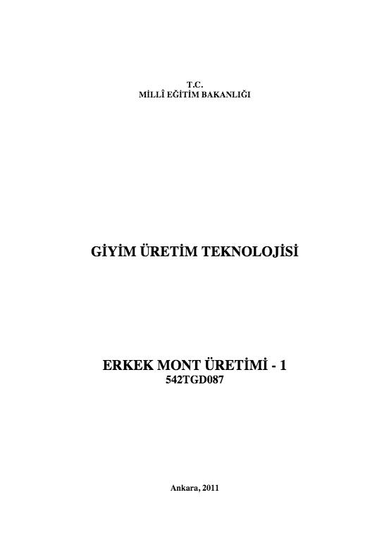Erkek Mont Üretimi -1 ders notu pdf