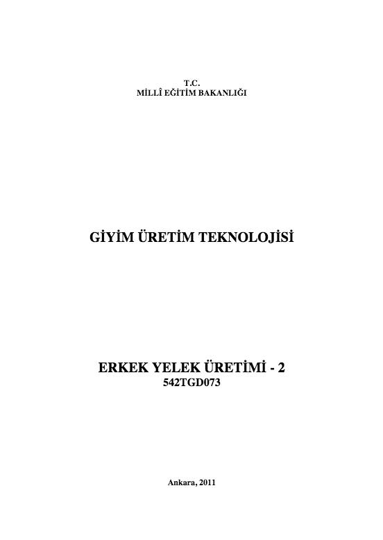 Erkek Yelek Üretimi- 2 ders notu pdf