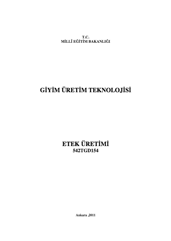 Etek Üretimi ders notu pdf