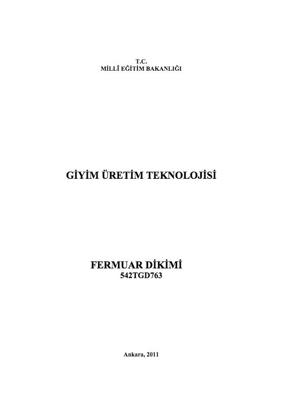 Fermuar Dikimi ders notu pdf